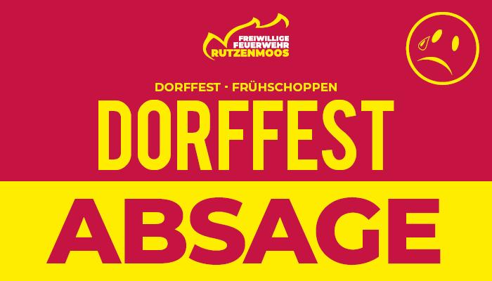 Absage Dorffest 2021